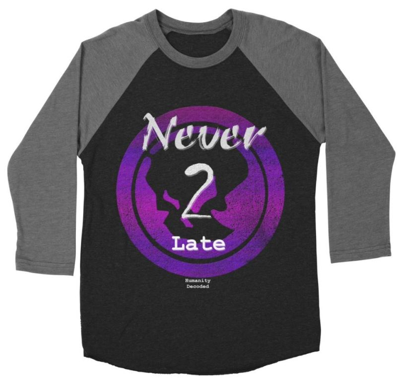 Phantom Never 2 late baseball shirt (w on b)